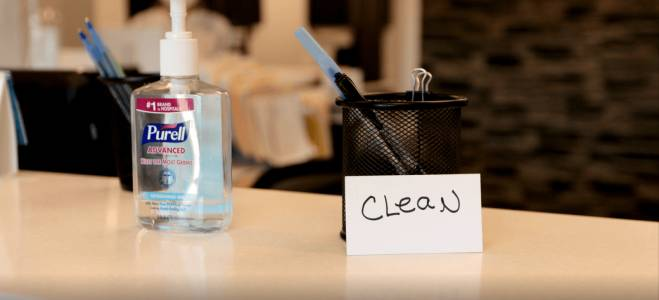 clean and hygiene environment at dental office
